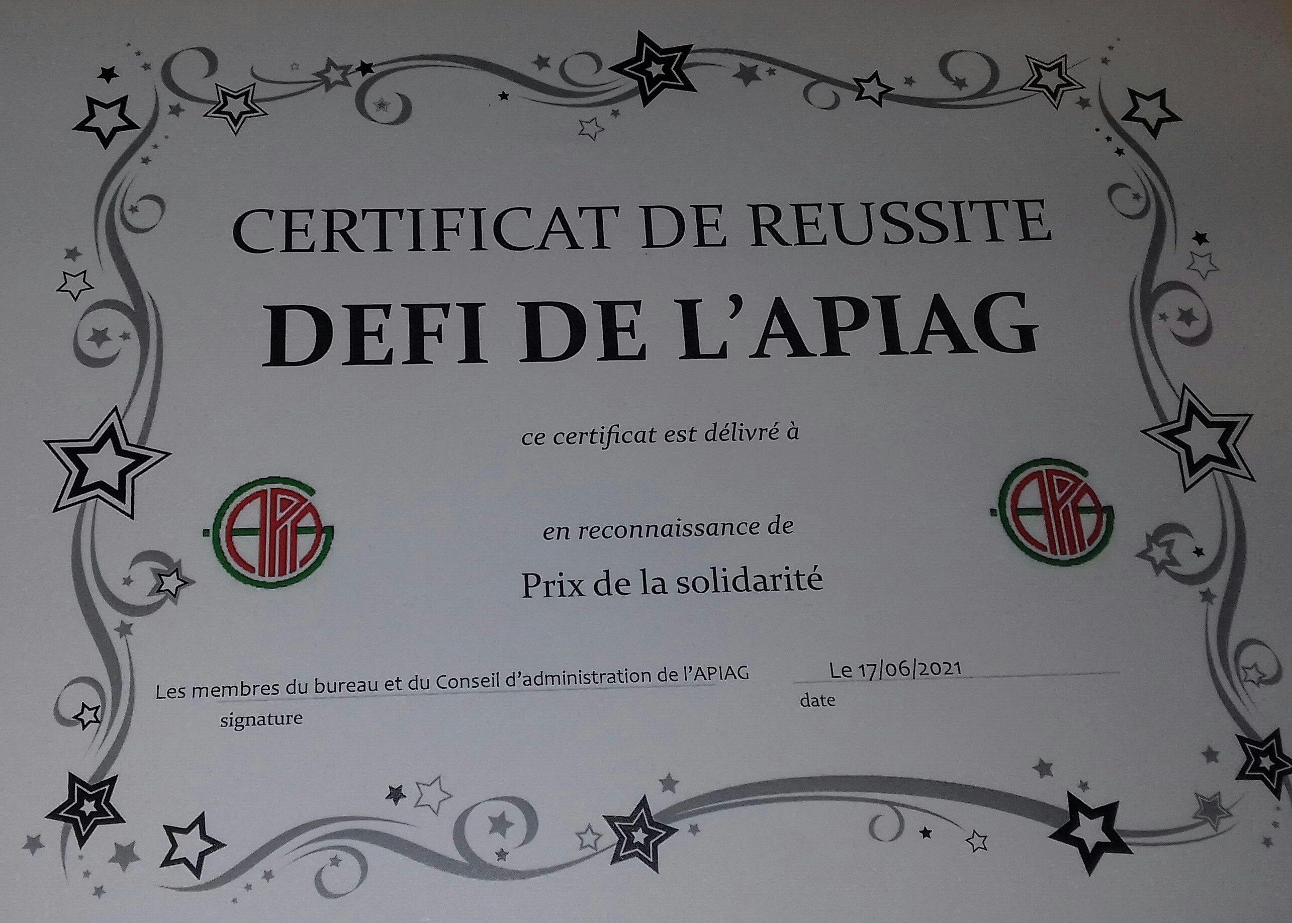 Prix de la Solidarité pour les 6ème EPICURE dans le cadre du projet TUTTI UNITI